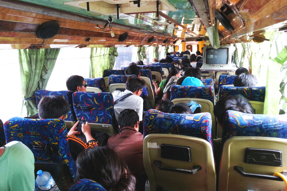 Toda una aventura el bus de Laos.