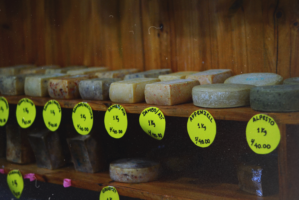 Gran variedad de quesos.