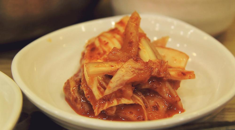 El famoso Kimchi te los dan en todos lados.