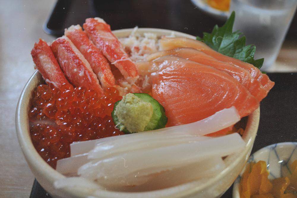 La comida marina es rey en Hakodate.