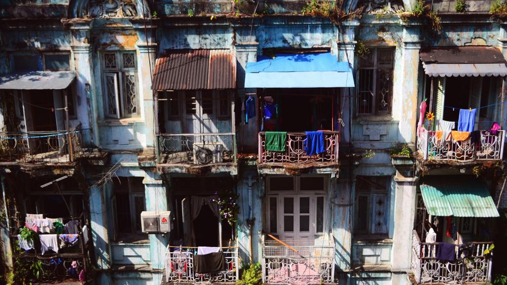 Vistas desde el Chan Myaye Guesthouse.