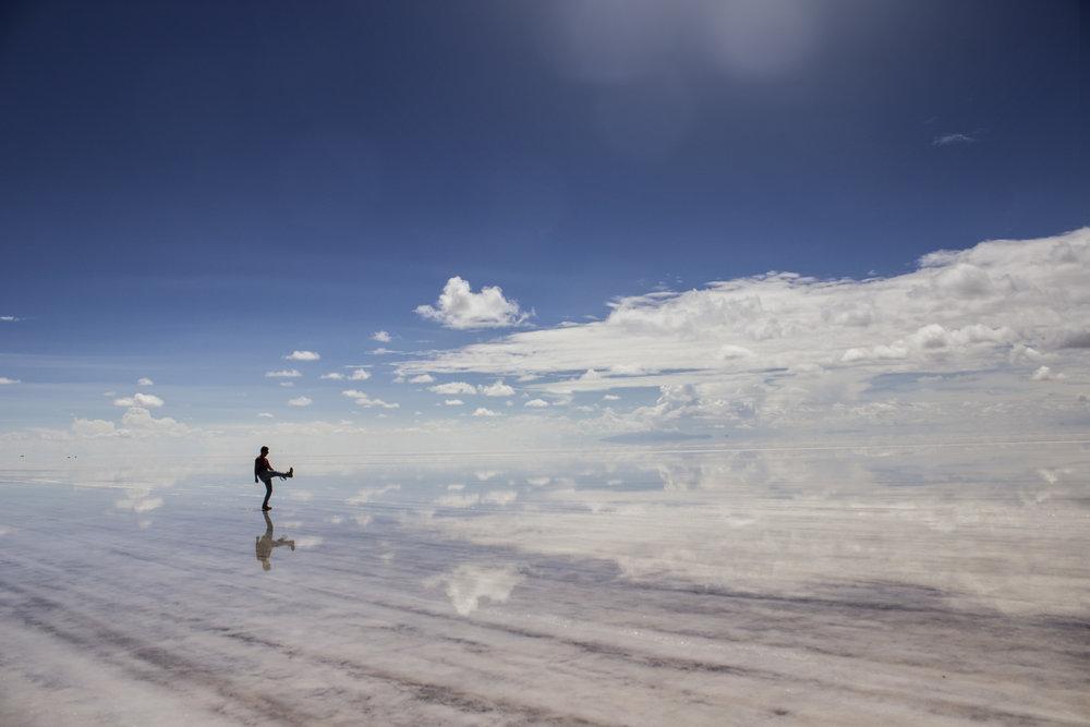El imponente Salar de Uyuni.