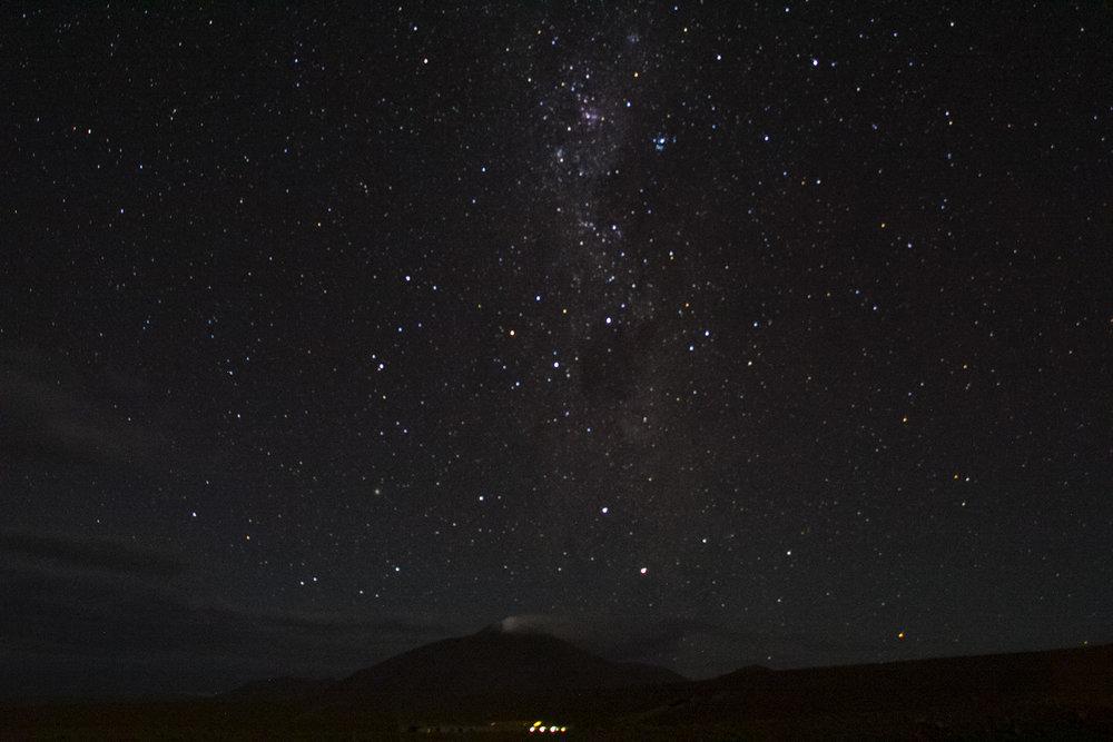 Noche estrellada en la Reserva Nacional Eduardo Abaroa.