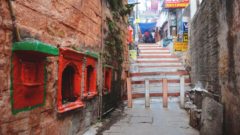 Las calles de Varanasi.