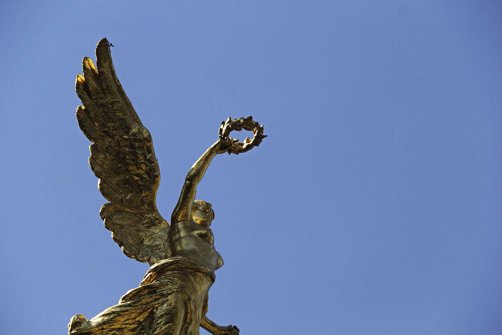 El Ángel de la Independencia.