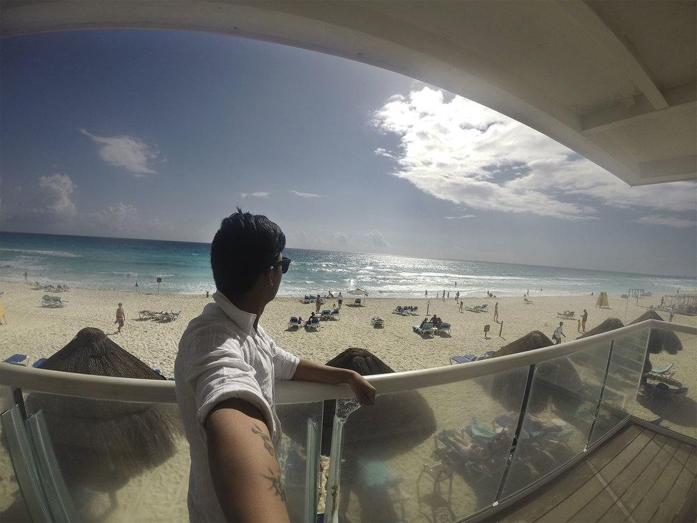 Cancún desde el hotel.