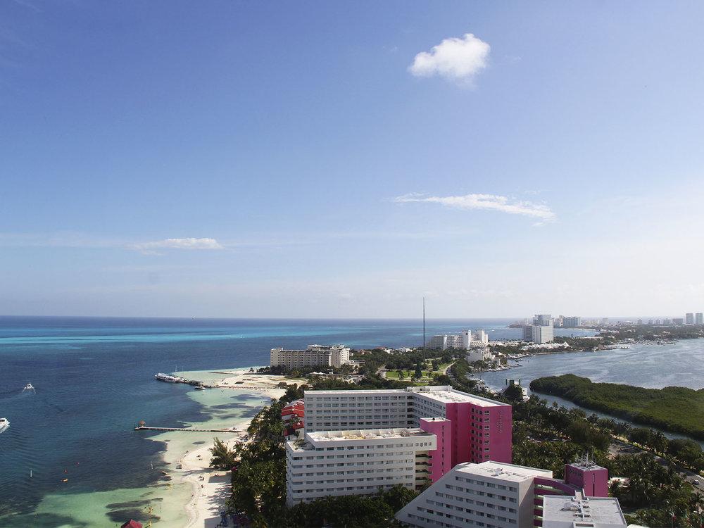 Panorámica de Cancún.