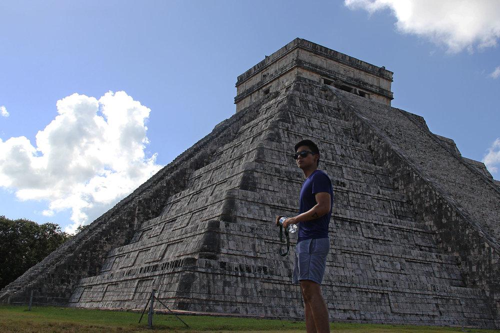 Pirámide de Kukulkán, agua y timer.