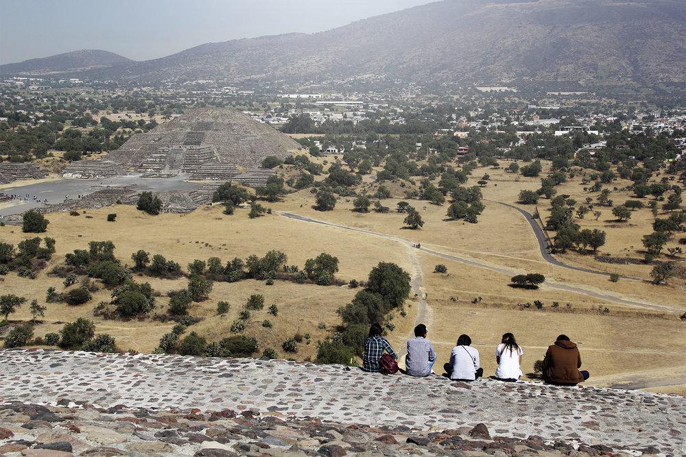 Vista desde la Pirámide del Sol.