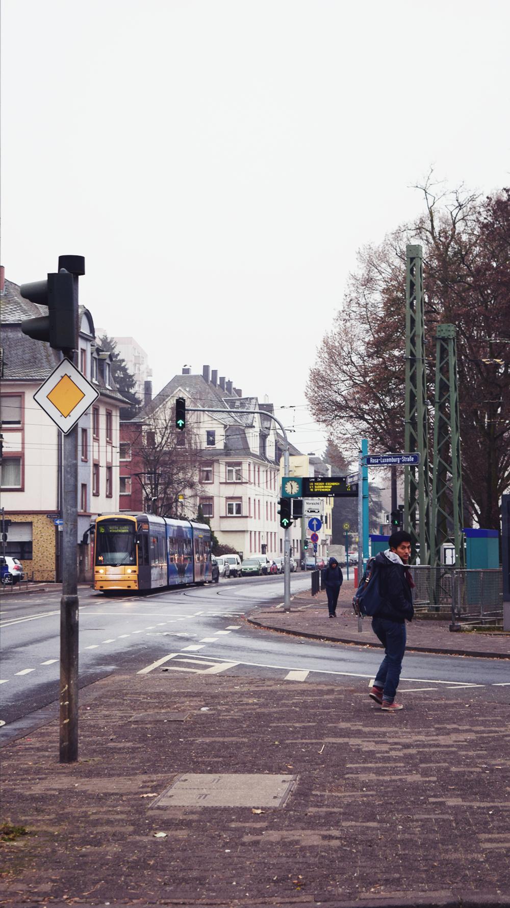 Las calles de Frankfurt.