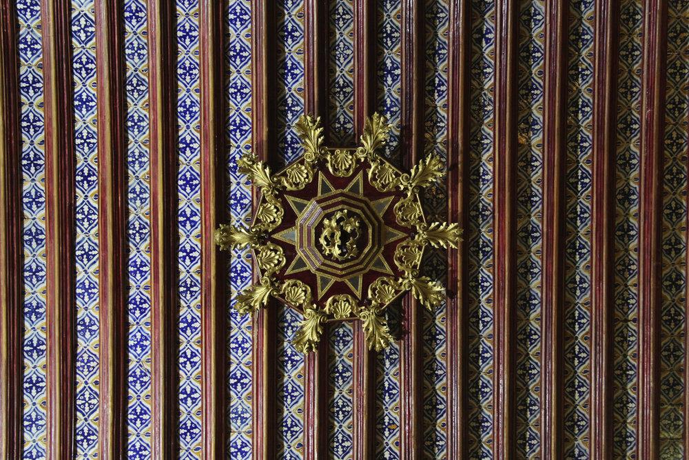 Techo de la Casa de los Azulejos.