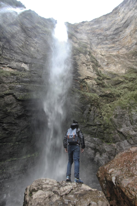 La imponente caída de más de 500 metros de altura.