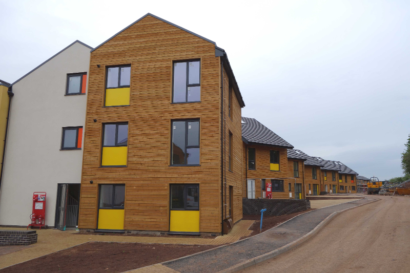 Torpoint Housing scheme for Knightstone, nearing completion.
