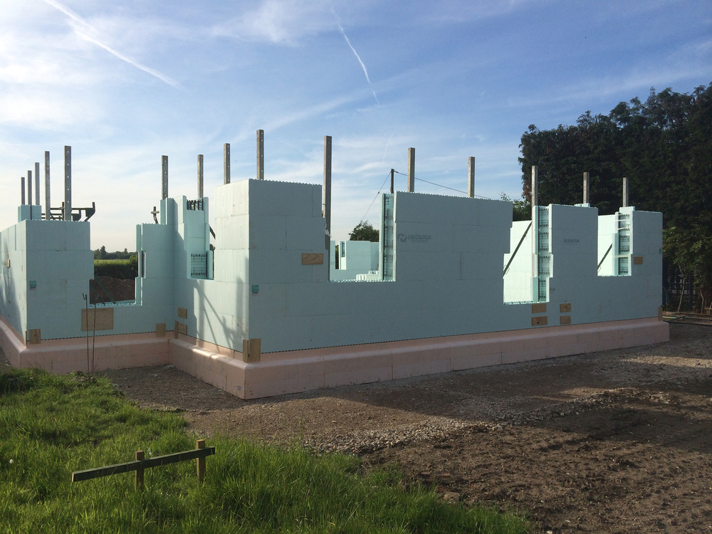 Goose Chase PassivHaus, In Construction
