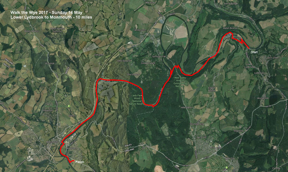 wye valley route map