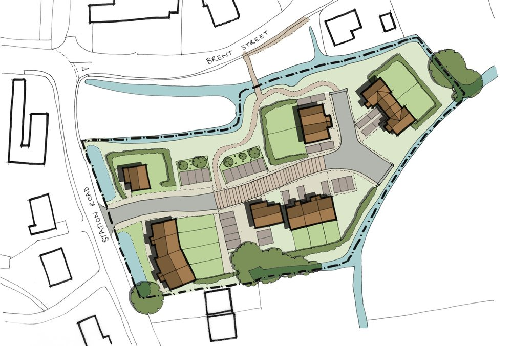 Site layout, Brent Knoll affordable housing