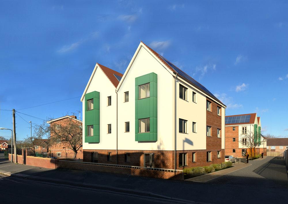 CGI image of Oldbury Court, Bristol