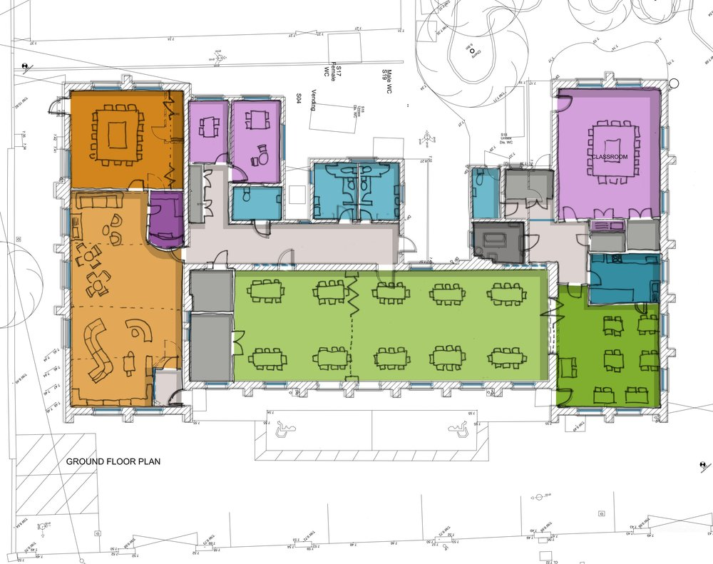 Avonmouth Community Centre proposed ground floor plan