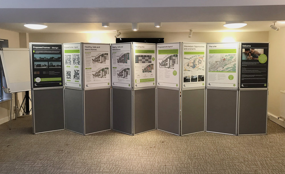Corbet Close Consultation set-up