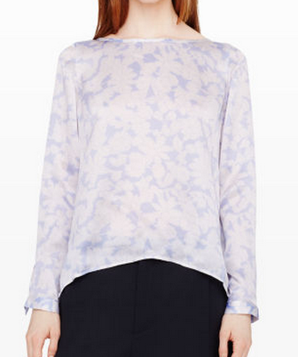 Alesia Silk Top blue floral blouse
