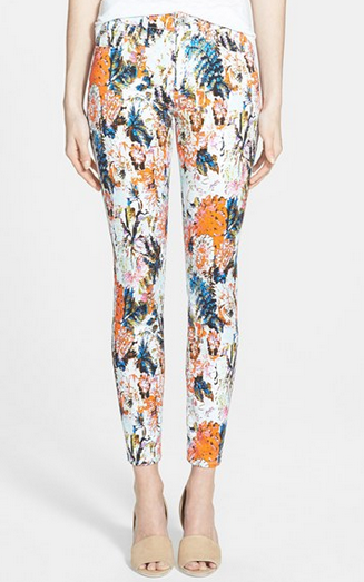 7 For All Mankind® Ankle Skinny Jeans (Floral Haze Print)