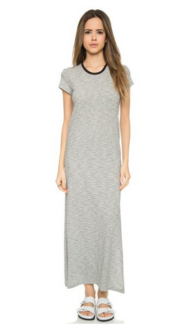 ATM Anthony Thomas Melillo Striped Pocket Tee Dress