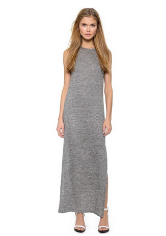 T by Alexander Wang Heather Linen Muscle Dress
