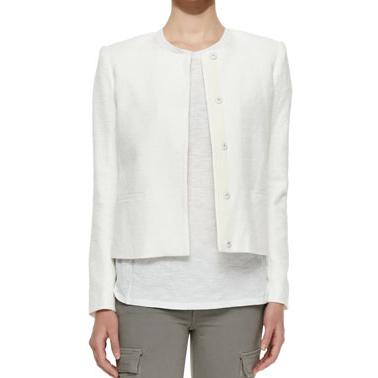 VinceTextured Button-Front Jacket