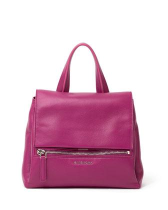 GivenchyPandora Pure Flap-Top Satchel Bag, Purple