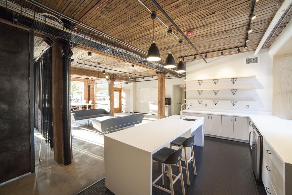 modern office kitchenette