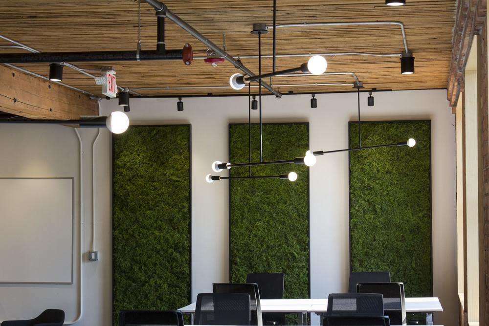 modern office wall installation