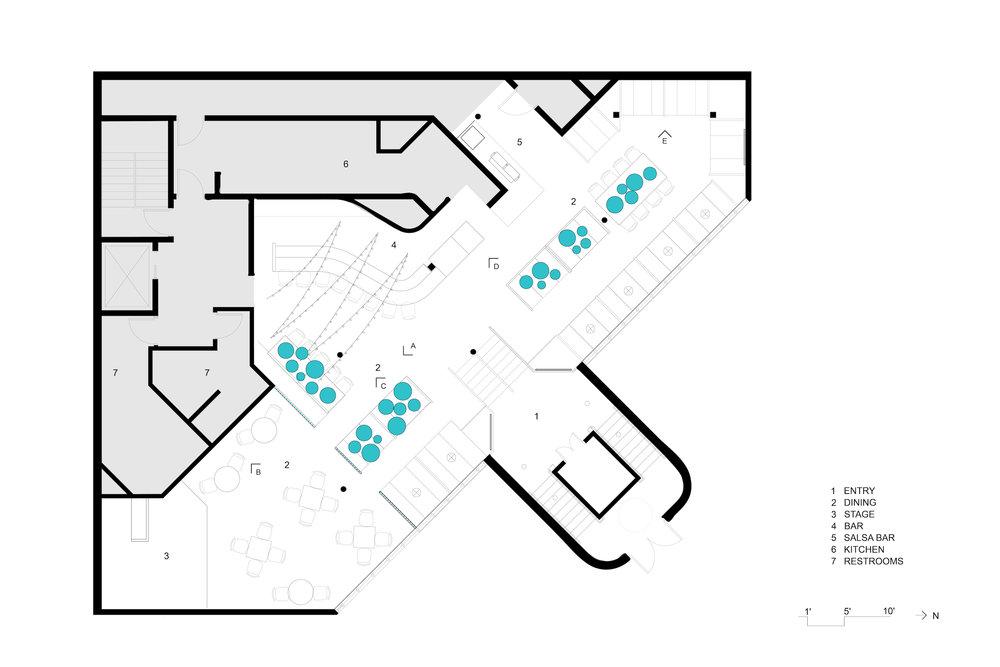 Cantina Restaurant and Bar Floor Plan Ann Arbor
