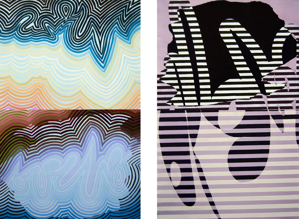 O.R. #2  &  O.R. #1 , 2013  Each  Watercolor on Paper  39h x 24w IN
