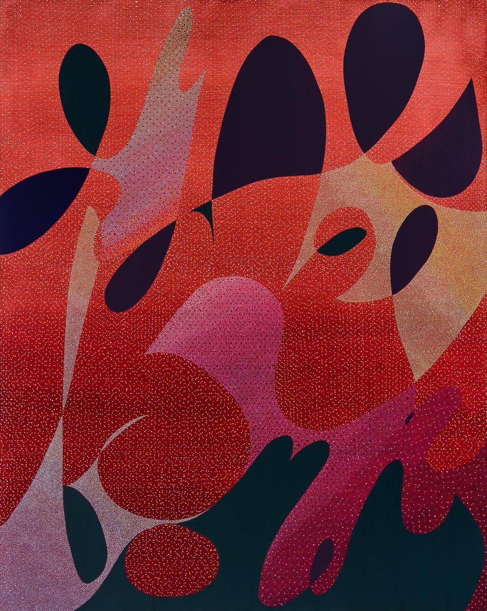 FYEO , 2017  Acrylic on Panel  50h x 40w IN