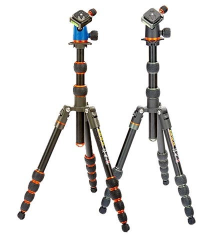 COREY - Our entry-level micro-traveler tripod - compact and strong, with a detachable monopod / camera boom. Constructed with aerospace grade Magnesium / Aluminium Alloy.