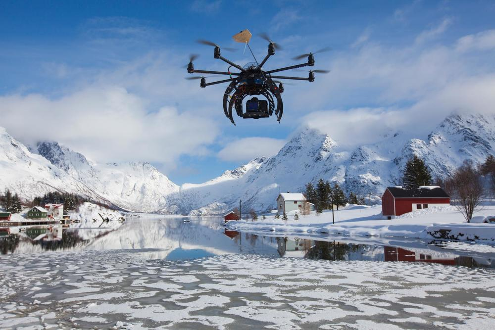 With an octocopter you can film anything anywhere with great precision.