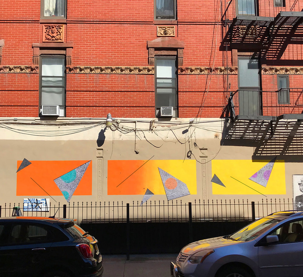 Mural on Eldridge street, NY, 2018