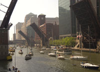 Bridges Make Way for Sailboats in the Spring, Main Stem, Chicago River Courtesy of David Solzman
