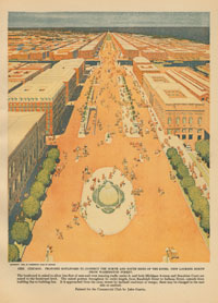 Plan of Chicago, Michigan Avenue, 1909 Courtesy of Chicago History Museum