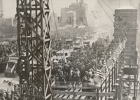 Opening of the Michigan Avenue Bridge, 1920  Courtesy of Chicago History Museum