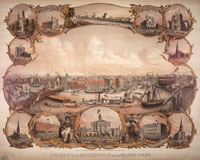 Artist's Rendering of Chicago, 1864 Courtesy of Chicago History Museum