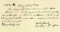 Sales Certificate, 1830 A combination of land grants, state and federal funds, and loans covered the cost of building the canal. Courtesy of Illinois State Archives