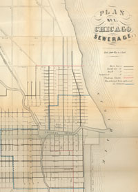Sewer Plan, 1855 Courtesy of Chicago Public Library