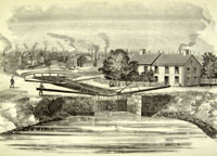 In 1871, engineers attempted to reverse the Chicago River by enlarging the I&M Canal Courtesy of Newberry Library