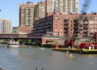 Chicago River Flatwater Classic at Grand Avenue, Chicago, Illinois  Courtesy of Friends of the Chicago River