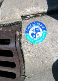 Stormdrain Sticker, Deerfield, Illinois  Courtesy of Friends of the Chicago River