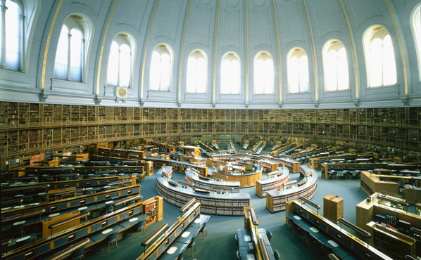 Photograph of circular reading room, British Museum