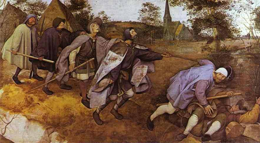 Bruegel's 1568 painting 'The Blind leading the Blind'