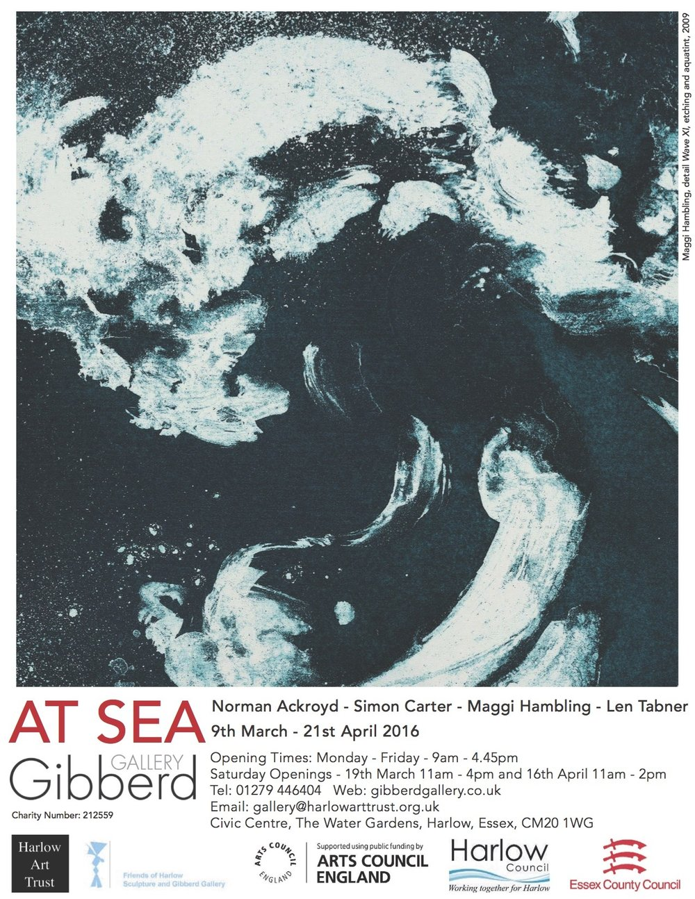 I am showing 2 large and 12 small canvases in this show which opens on 9th March.