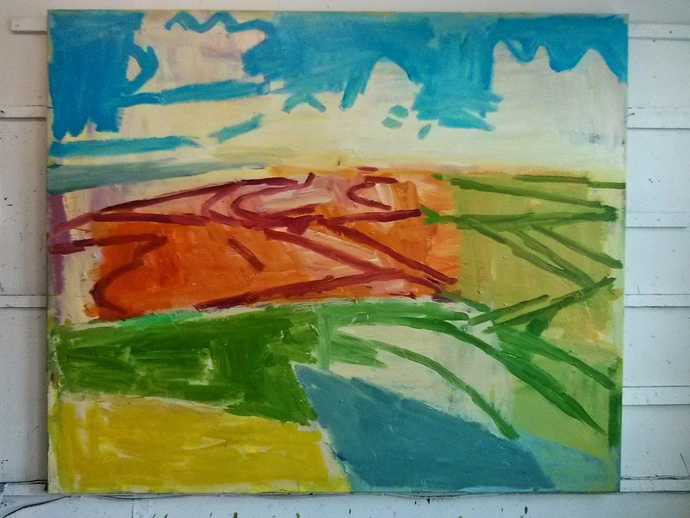 When is a painting finished and how do you know? When it tells you it is finished; but sometimes a painting keeps quiet about it. Sometimes all you can do is wait and see…